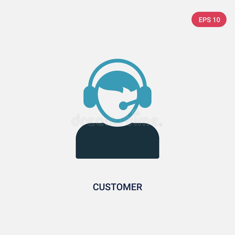 Two color customer vector icon from strategy concept. isolated blue customer vector sign symbol can be use for web, mobile and royalty free illustration