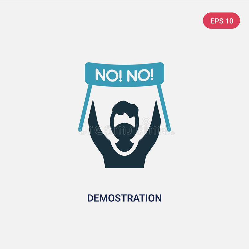 Two color demostration vector icon from other concept. isolated blue demostration vector sign symbol can be use for web, mobile vector illustration