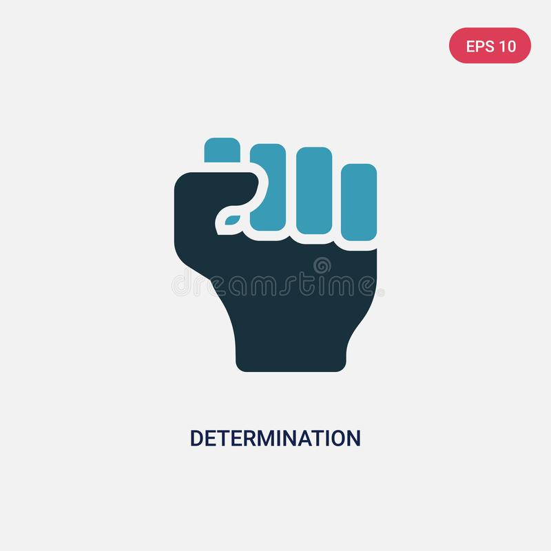 Two color determination vector icon from nature concept. isolated blue determination vector sign symbol can be use for web, mobile. And logo. eps 10 royalty free illustration