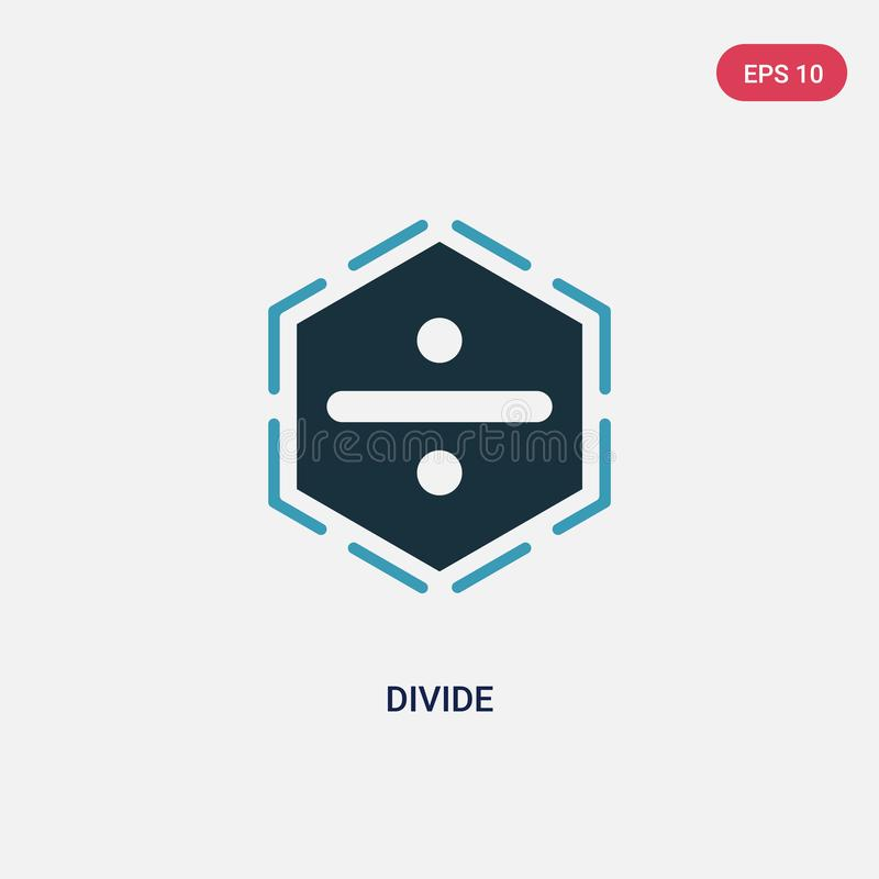 Two color divide vector icon from signs concept. isolated blue divide vector sign symbol can be use for web, mobile and logo. eps vector illustration