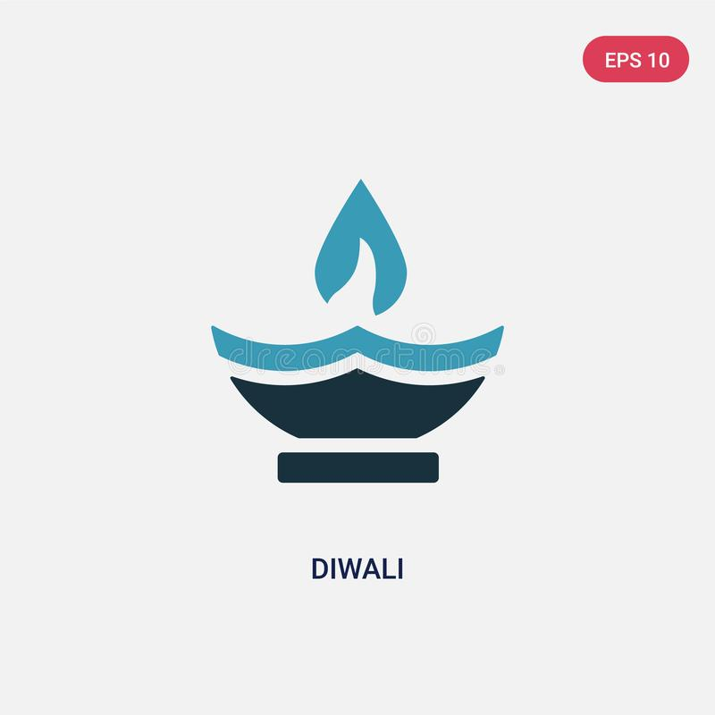 Two color diwali vector icon from religion concept. isolated blue diwali vector sign symbol can be use for web, mobile and logo. stock illustration