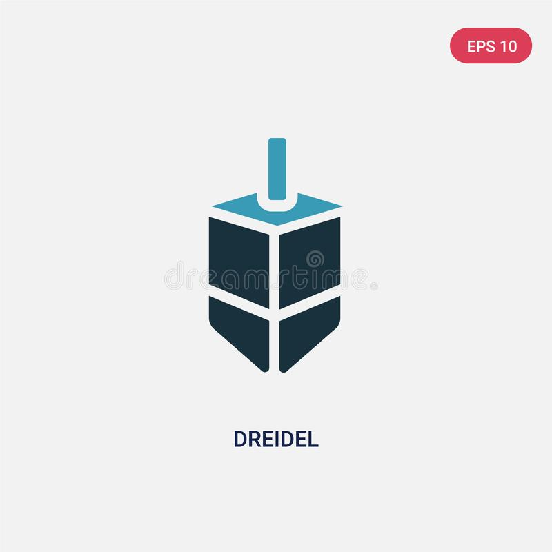 Two color dreidel vector icon from religion concept. isolated blue dreidel vector sign symbol can be use for web, mobile and logo royalty free illustration