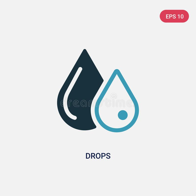 Two color drops vector icon from science concept. isolated blue drops vector sign symbol can be use for web, mobile and logo. eps. 10 stock illustration