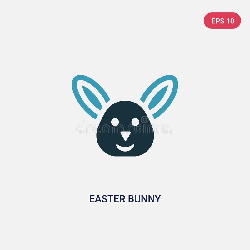 Two color easter bunny vector icon from religion concept. isolated blue easter bunny vector sign symbol can be use for web, mobile royalty free illustration