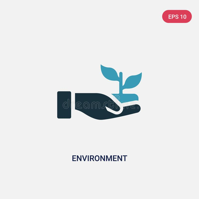 Two color environment vector icon from people skills concept. isolated blue environment vector sign symbol can be use for web, stock illustration