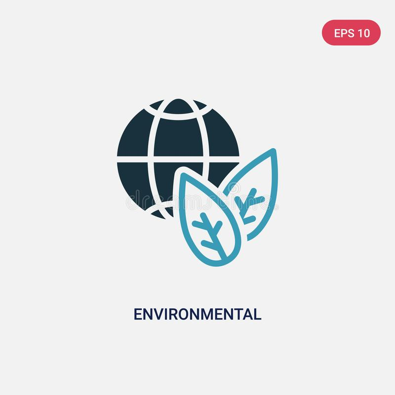 Two color environmental vector icon from smart home concept. isolated blue environmental vector sign symbol can be use for web, vector illustration