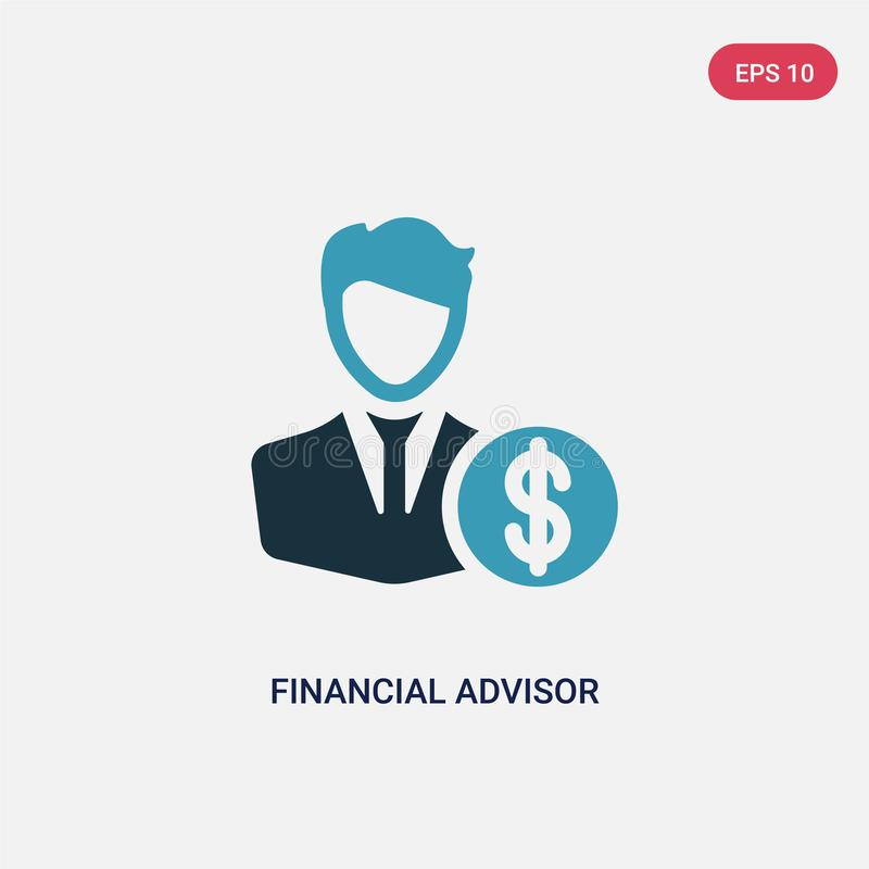 Two color financial advisor vector icon from professions concept. isolated blue financial advisor vector sign symbol can be use. For web, mobile and logo. eps royalty free illustration