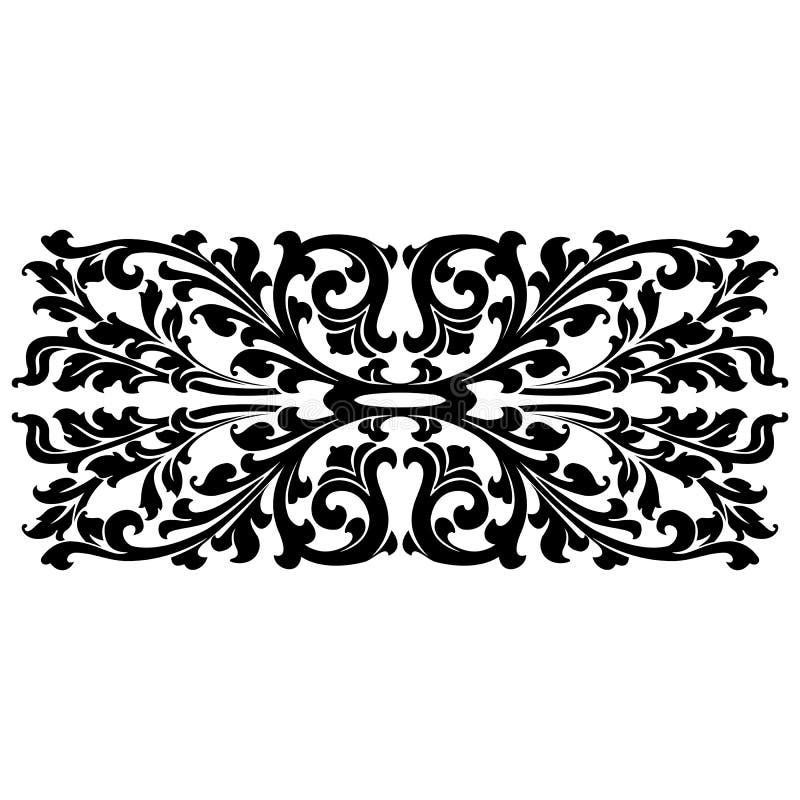 Two Color Floral Design vector illustration