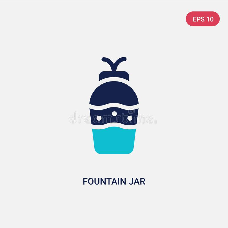 Two color fountain jar vector icon from art concept. isolated blue fountain jar vector sign symbol can be use for web, mobile and vector illustration
