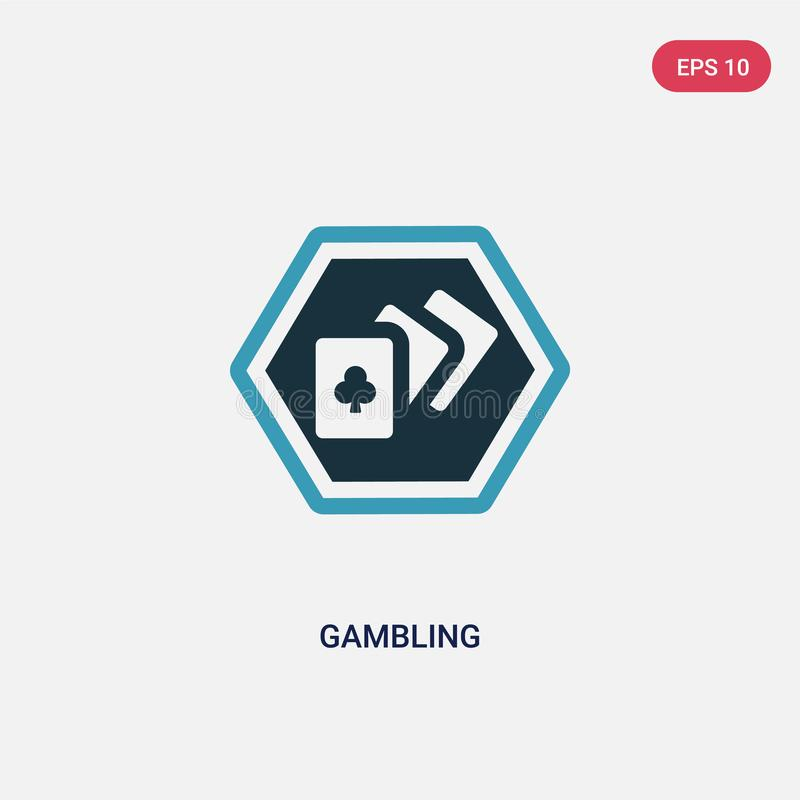 Two color gambling vector icon from signs concept. isolated blue gambling vector sign symbol can be use for web, mobile and logo. vector illustration