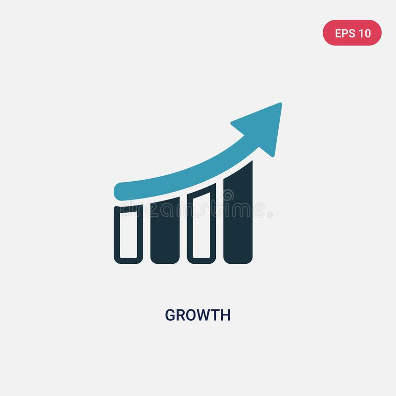Two color growth vector icon from strategy concept. isolated blue growth vector sign symbol can be use for web, mobile and logo. vector illustration