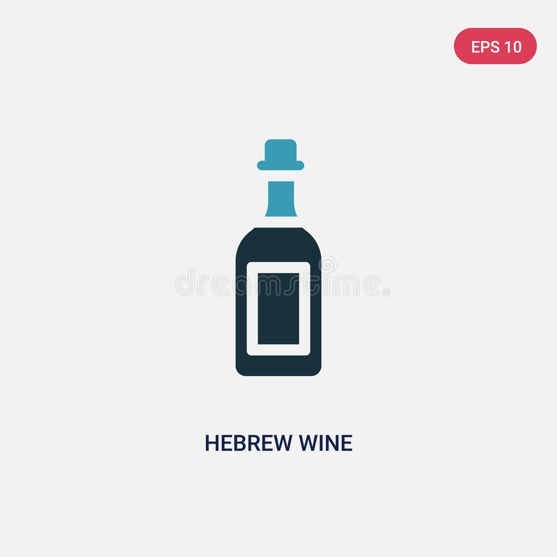 Two color hebrew wine vector icon from religion concept. isolated blue hebrew wine vector sign symbol can be use for web, mobile. And logo. eps 10 royalty free illustration