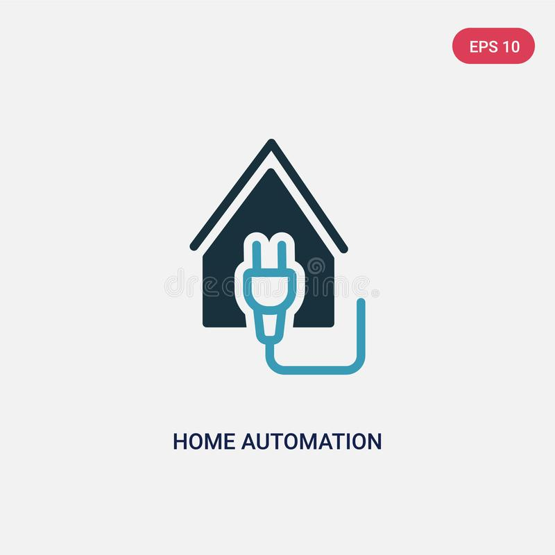 Two color home automation vector icon from smart home concept. isolated blue home automation vector sign symbol can be use for web stock illustration