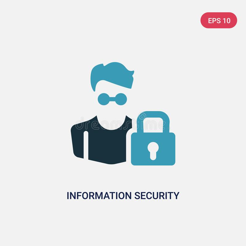 Two color information security analyst vector icon from professions concept. isolated blue information security analyst vector vector illustration