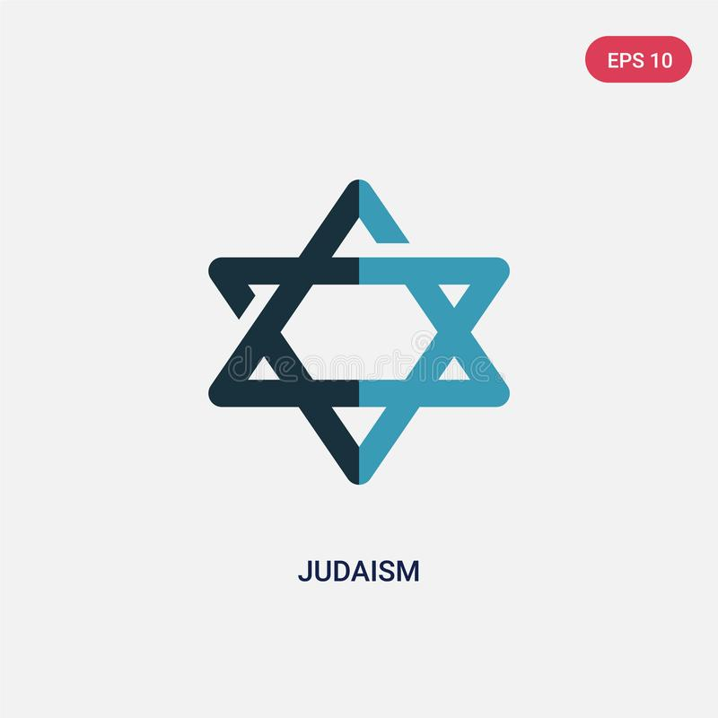 Two color judaism vector icon from religion concept. isolated blue judaism vector sign symbol can be use for web, mobile and logo. Eps 10 vector illustration
