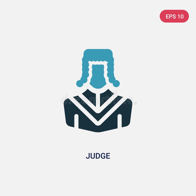 Two color judge vector icon from professions & jobs concept. isolated blue judge vector sign symbol can be use for web, mobile and. Logo. eps 10 royalty free illustration
