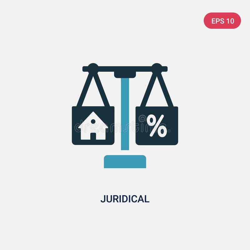 Two color juridical vector icon from real estate concept. isolated blue juridical vector sign symbol can be use for web, mobile royalty free illustration