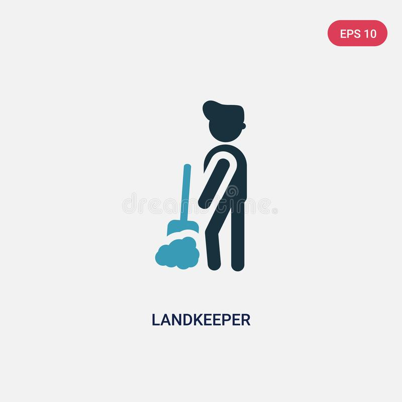 Two color landkeeper vector icon from people concept. isolated blue landkeeper vector sign symbol can be use for web, mobile and vector illustration
