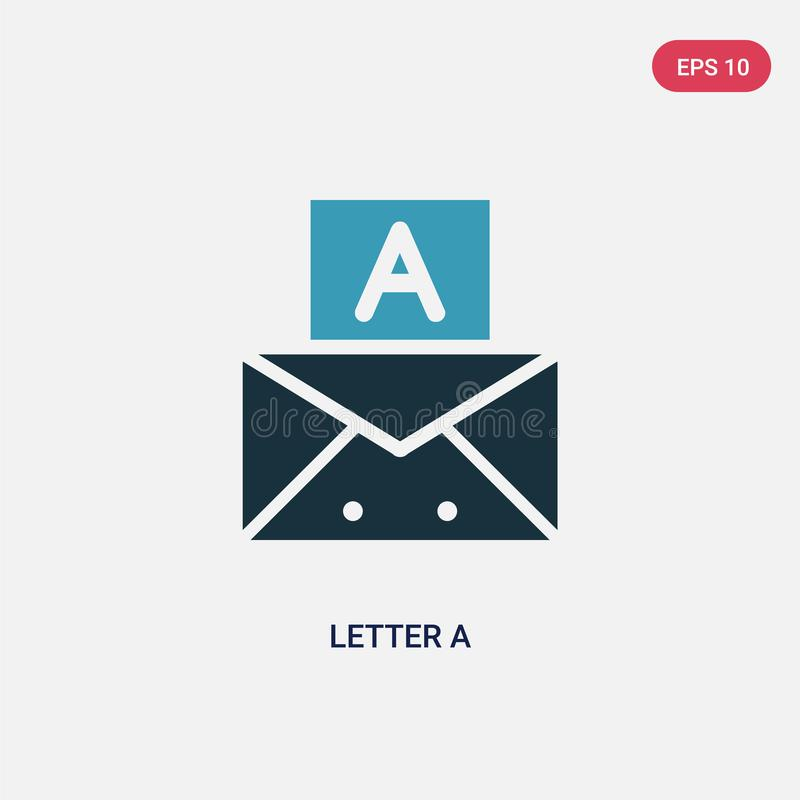 Two color letter a vector icon from signs concept. isolated blue letter a vector sign symbol can be use for web, mobile and logo. royalty free illustration