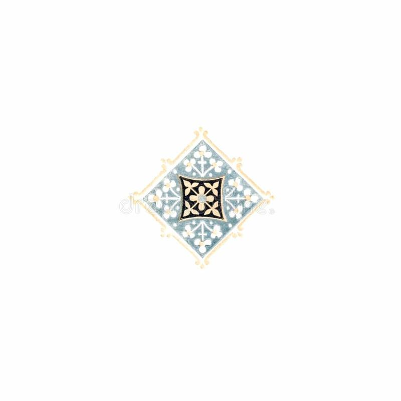 Two-Color Lozenge-Shaped Ornament royalty free stock photo