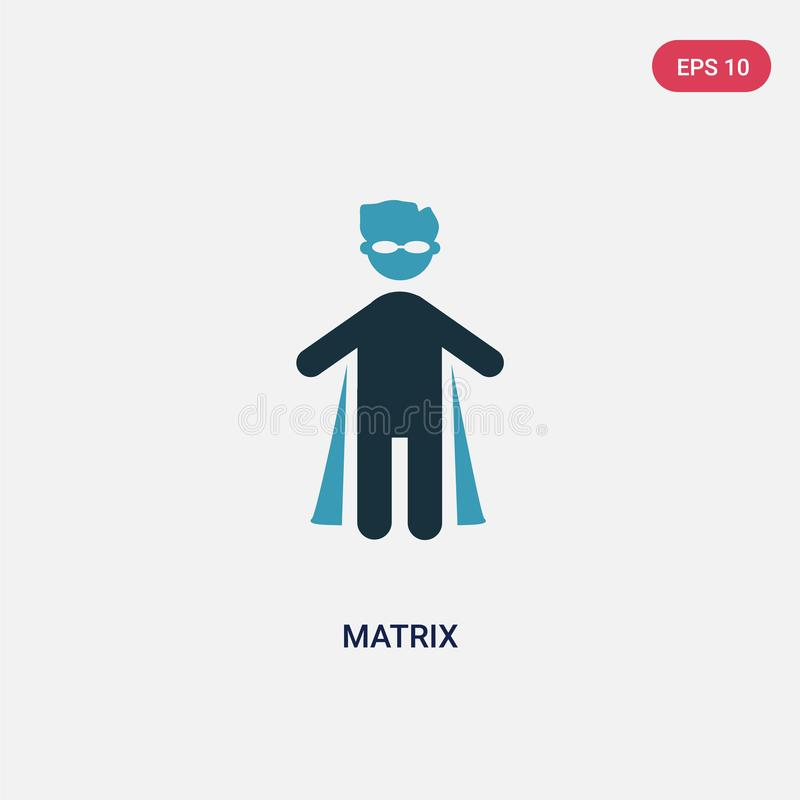 Two color matrix vector icon from people concept. isolated blue matrix vector sign symbol can be use for web, mobile and logo. eps stock illustration