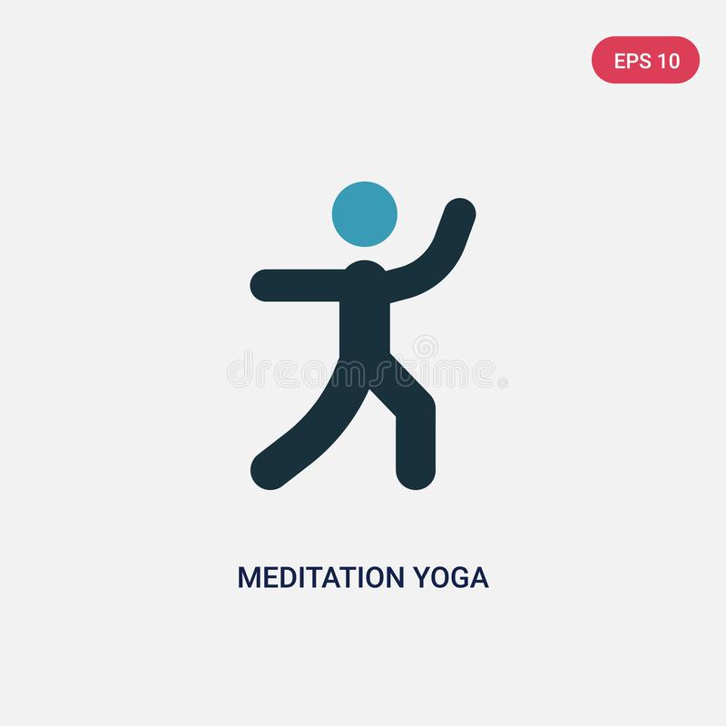 Two color meditation yoga posture vector icon from sports concept. isolated blue meditation yoga posture vector sign symbol can be vector illustration