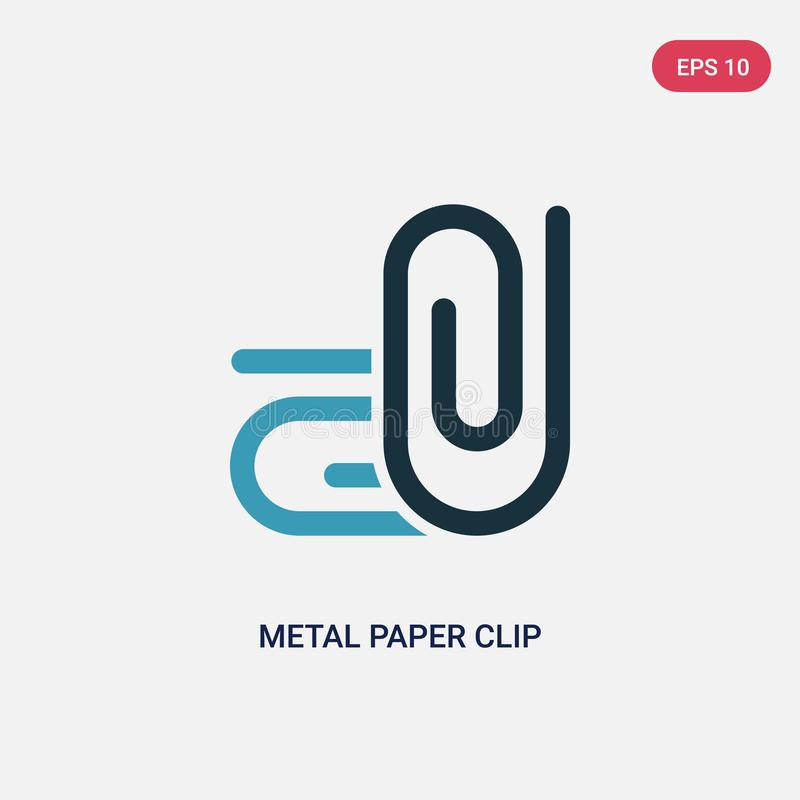 Two color metal paper clip vector icon from other concept. isolated blue metal paper clip vector sign symbol can be use for web,. Mobile and logo. eps 10 royalty free illustration