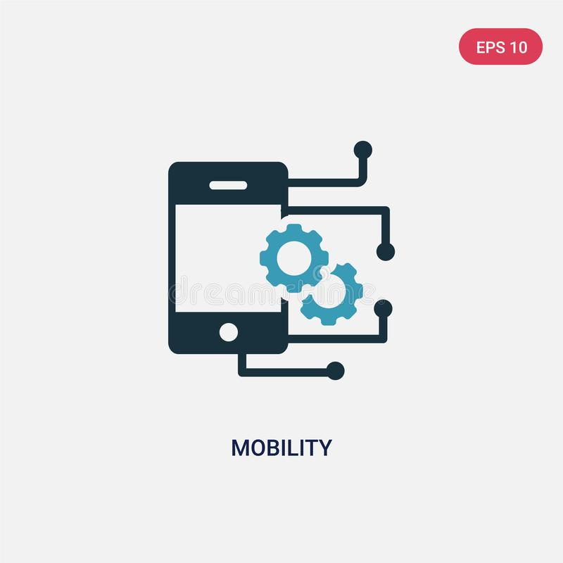 Two color mobility vector icon from smart home concept. isolated blue mobility vector sign symbol can be use for web, mobile and. Logo. eps 10 royalty free illustration