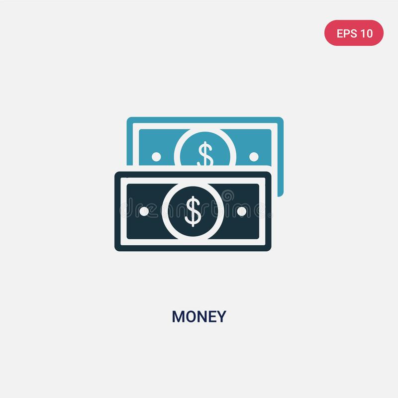 Two color money vector icon from strategy concept. isolated blue money vector sign symbol can be use for web, mobile and logo. eps vector illustration