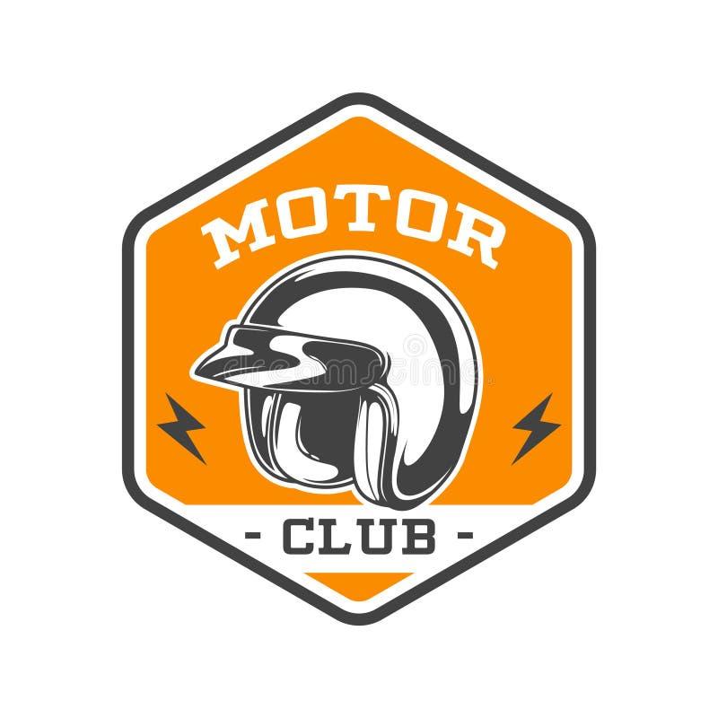 TWO COLOR MOTOR CLUB EMBLEM stock illustration