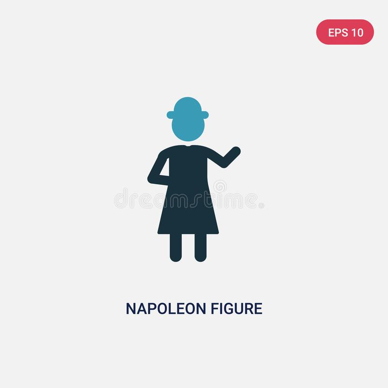 Two color napoleon figure vector icon from people concept. isolated blue napoleon figure vector sign symbol can be use for web, stock illustration