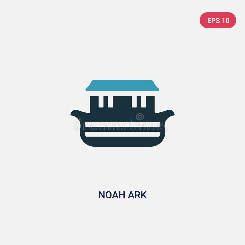 Two color noah ark vector icon from religion concept. isolated blue noah ark vector sign symbol can be use for web, mobile and vector illustration