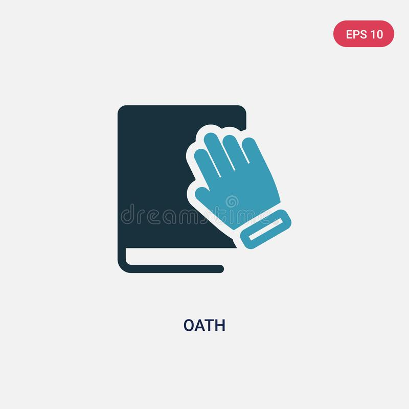 Two color oath vector icon from political concept. isolated blue oath vector sign symbol can be use for web, mobile and logo. eps. 10 stock illustration