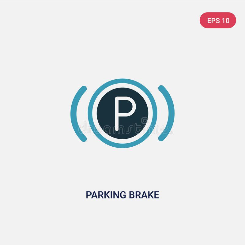 Two color parking brake vector icon from signaling concept. isolated blue parking brake vector sign symbol can be use for web,. Mobile and logo. eps 10 vector illustration
