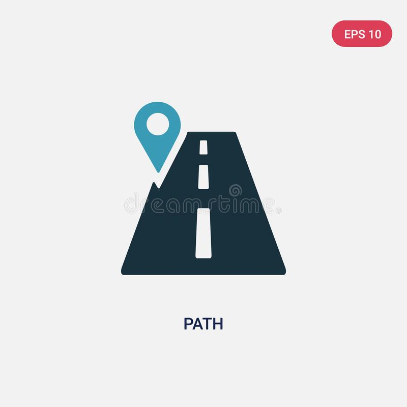 Two color path vector icon from social media concept. isolated blue path vector sign symbol can be use for web, mobile and logo. vector illustration