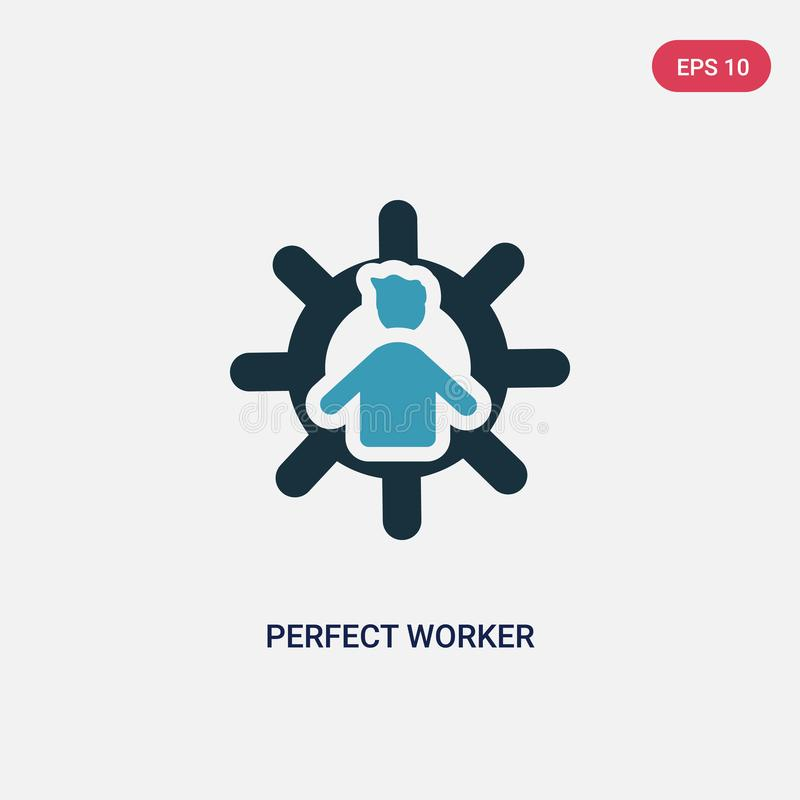 Two color perfect worker vector icon from people concept. isolated blue perfect worker vector sign symbol can be use for web,. Mobile and logo. eps 10 royalty free illustration