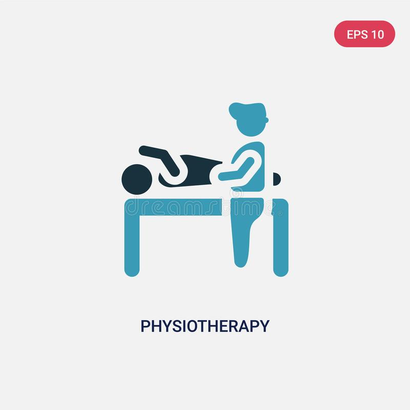 Two color physiotherapy vector icon from people concept. isolated blue physiotherapy vector sign symbol can be use for web, mobile royalty free illustration