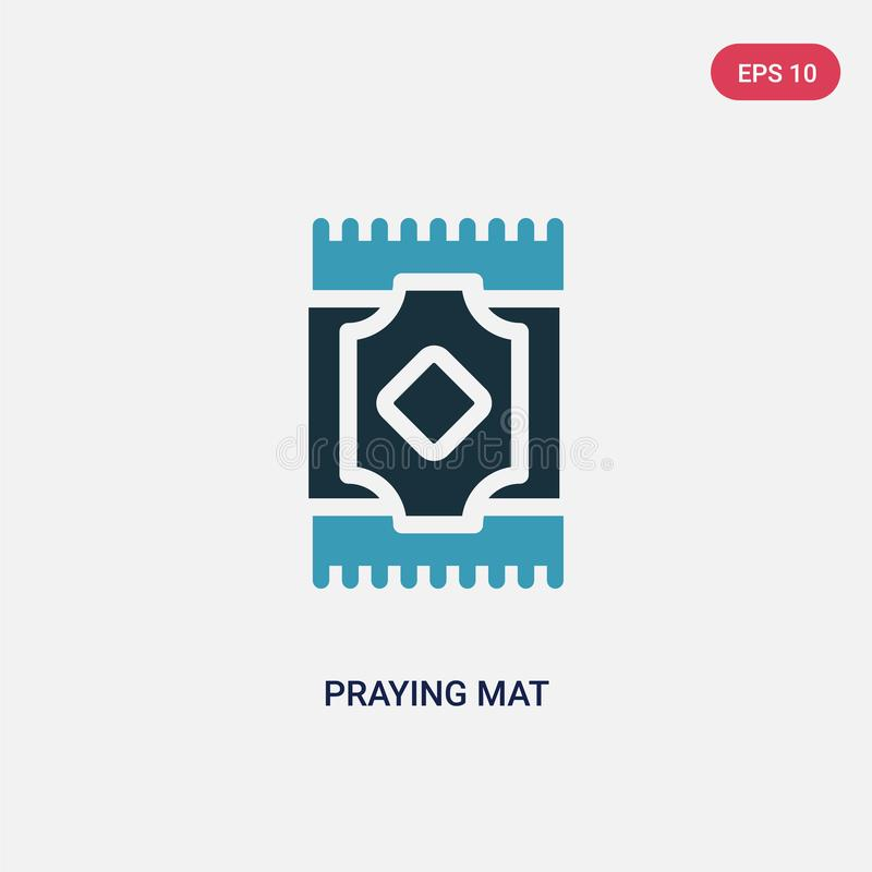 Two color praying mat vector icon from religion concept. isolated blue praying mat vector sign symbol can be use for web, mobile vector illustration