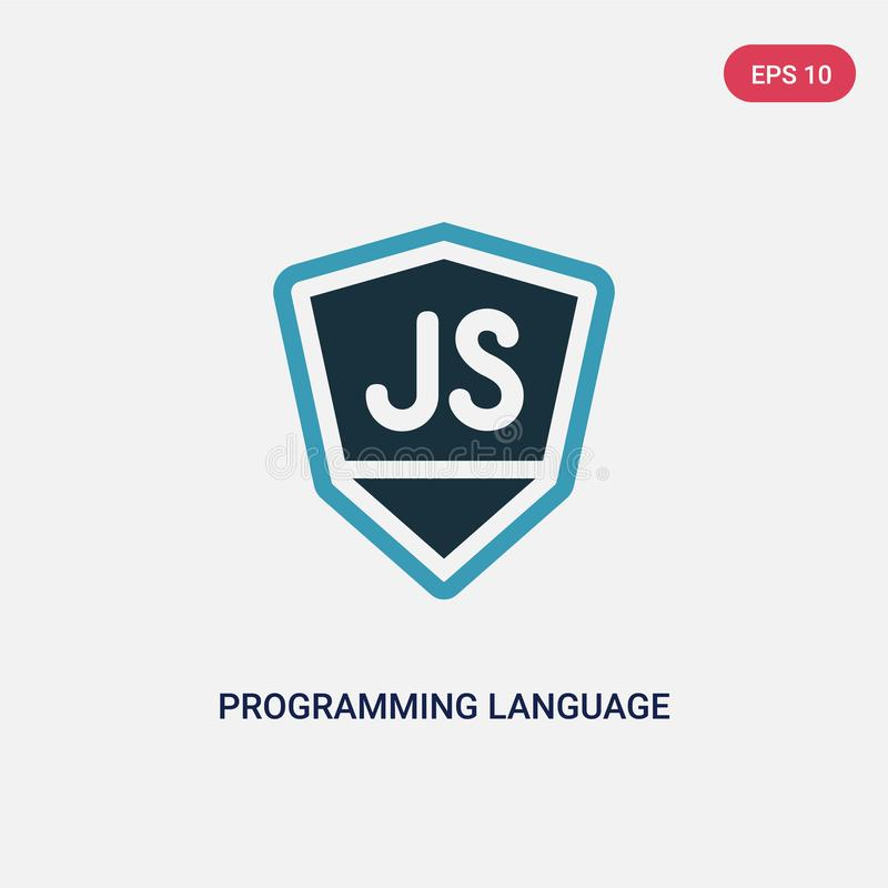 Two color programming language vector icon from programming concept. isolated blue programming language vector sign symbol can be. Use for web, mobile and logo vector illustration