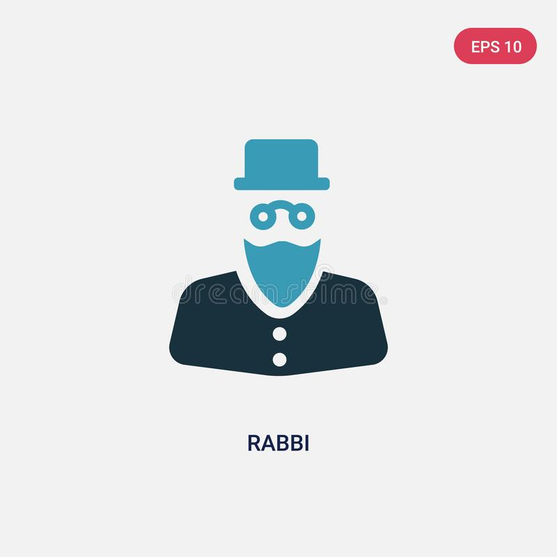 Two color rabbi vector icon from religion concept. isolated blue rabbi vector sign symbol can be use for web, mobile and logo. eps vector illustration