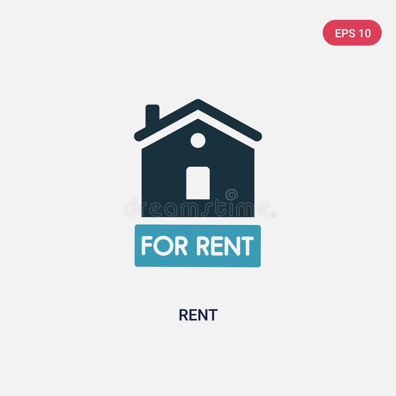 Two color rent vector icon from real estate concept. isolated blue rent vector sign symbol can be use for web, mobile and logo. vector illustration