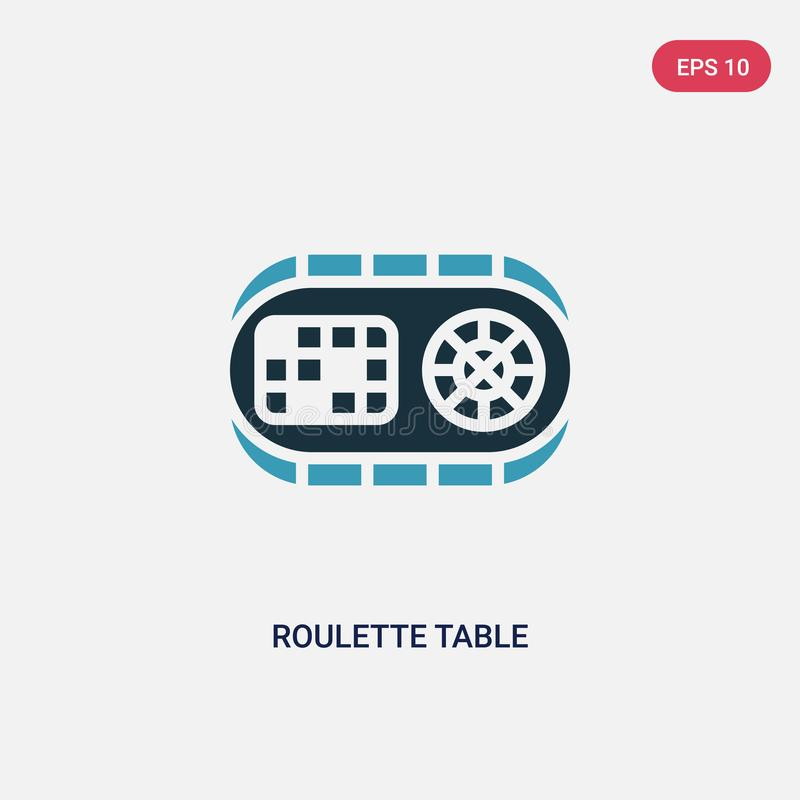 Two color roulette table vector icon from other concept. isolated blue roulette table vector sign symbol can be use for web, royalty free illustration