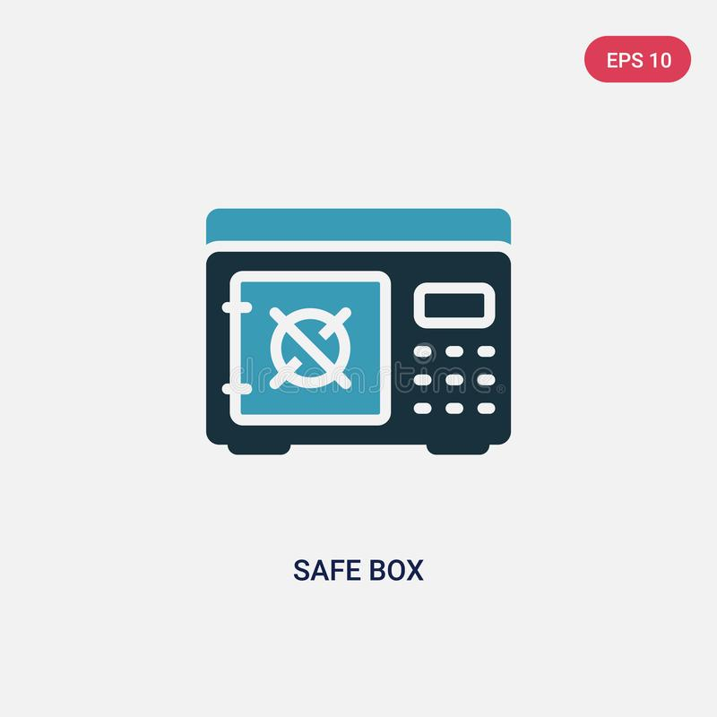 Two color safe box vector icon from security concept. isolated blue safe box vector sign symbol can be use for web, mobile and vector illustration