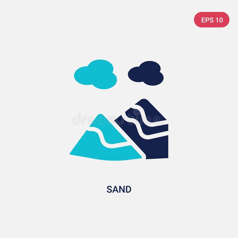 Two color sand vector icon from general concept. isolated blue sand vector sign symbol can be use for web, mobile and logo. eps 10. Two color sand vector icon stock illustration
