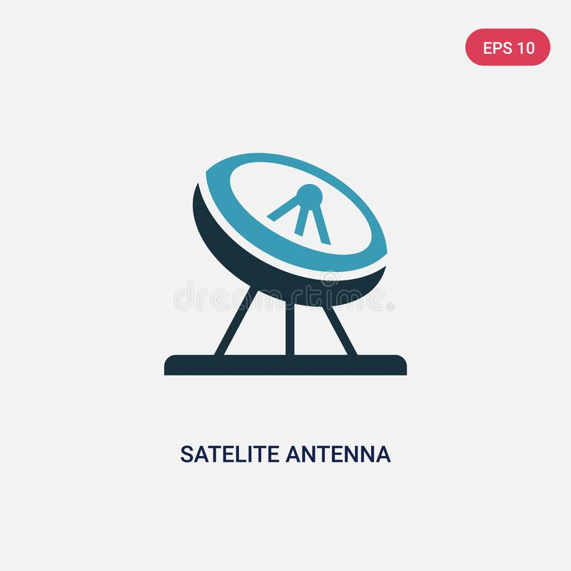 Two color satelite antenna vector icon from other concept. isolated blue satelite antenna vector sign symbol can be use for web, vector illustration