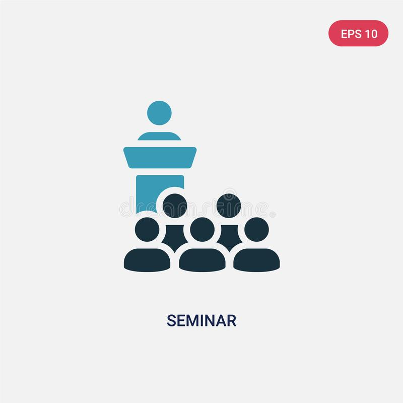 Two color seminar vector icon from social media marketing concept. isolated blue seminar vector sign symbol can be use for web, royalty free illustration