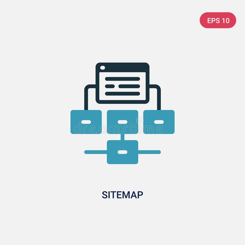 Two color sitemap vector icon from seo & web concept. isolated blue sitemap vector sign symbol can be use for web, mobile and logo. Eps 10 vector illustration