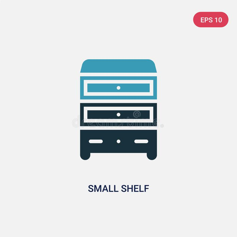 Two color small shelf vector icon from other concept. isolated blue small shelf vector sign symbol can be use for web, mobile and stock illustration