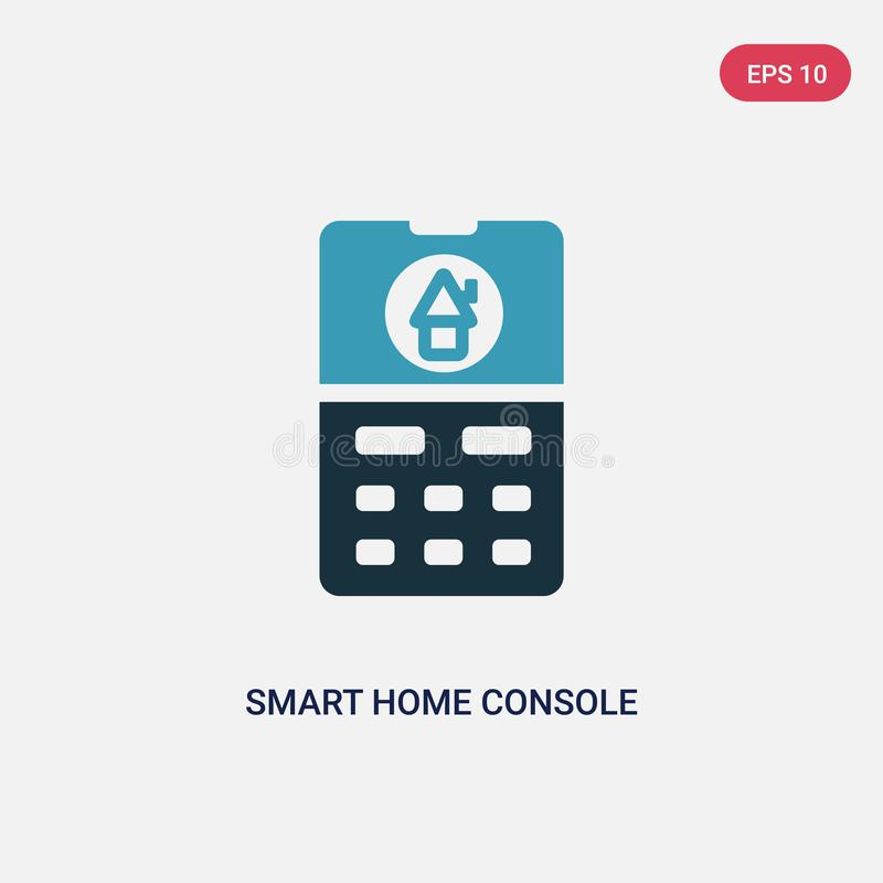 Two color smart home console vector icon from smart home concept. isolated blue smart home console vector sign symbol can be use vector illustration