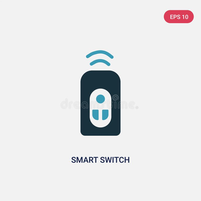 Two color smart switch vector icon from smart home concept. isolated blue smart switch vector sign symbol can be use for web, vector illustration